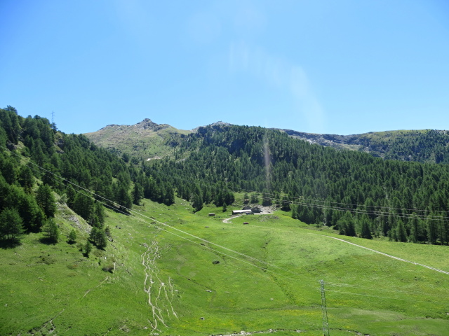 Panoramica sull'Alpe Salere, sullo sfondo la vetta dello Zerbion