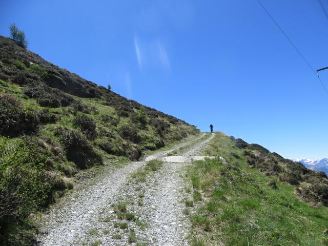 Salita al Col Portola - uno dei tratti più ripidi nei traversi finali