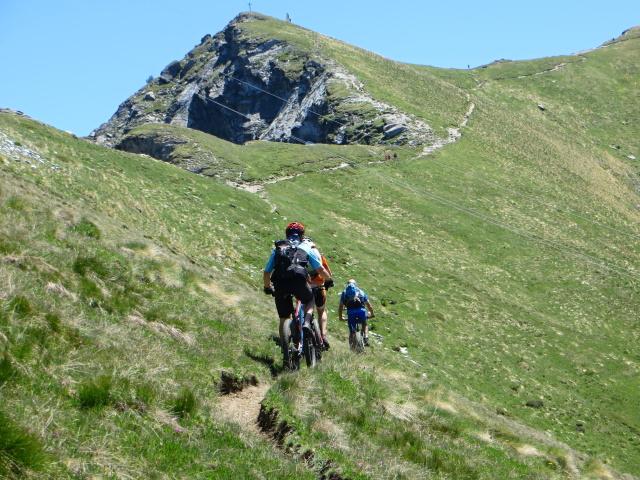 Sentiero per il Col Portola - in avvicinamento al colle (ultimi metri ciclabili)