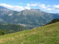 Barzio ed i Piani di bobbio dall'Alpe Muscera