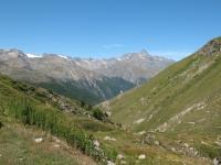 Panoramica sulla strada percorsa per l'ascesa dall'Alpe Tsavanis