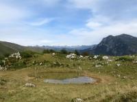 Discesa dal Rifugio Gherardi, panorama