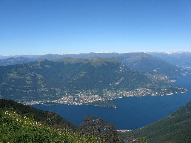 Le Prealpi dalla vetta del San Primo - Monte Galbiga, Monte Di Tremezzo, Monte Crocione
