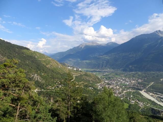 Panorama su Leuk e fondovalle