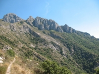 Colle del Corvo, vista sul Monte Toraggio