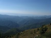 Panorama sulla Val Nervia dal Monte Toraggio