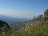 Risalita al Passo Gray, panorama sulle alpi liguri