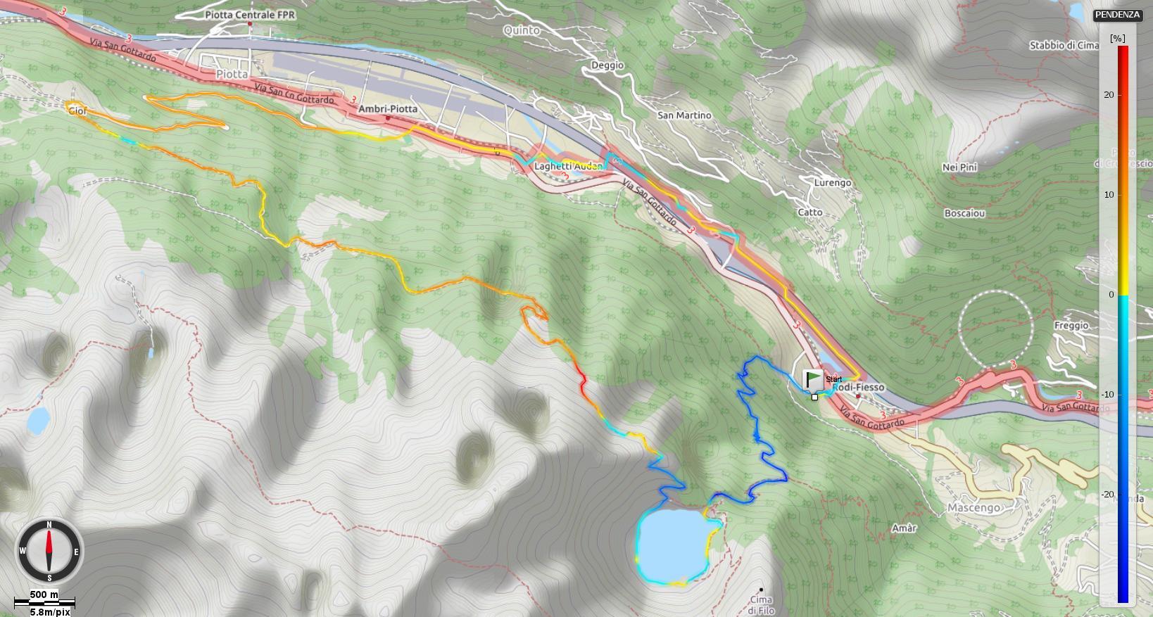Lago Tremorgio Pendenze