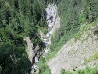 La gola scavata dal torrente Binna