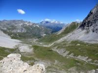 Panorama sul versante francese dal Colle della Rho