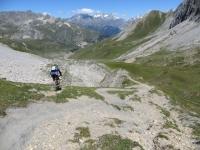 Colle della Rho - inizio della discesa su sentiero lungo il versante francese