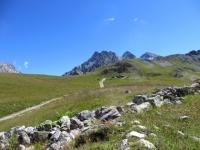 In prossimità del Col de la Replanette - salita al Colle di Valle Stretta