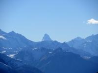 L'inconfondibile punta del Monte Cervino