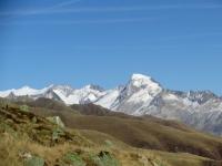 La catena alpina che delimita il Rhonegletscher - Galenstock, Furkahorn, Rhonestock e Dammastock