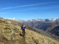Percorrendo il sentiero in direzione della Galmihornhütte