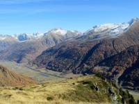 In vista della Galmihornhütte - panorama sull'Obergoms