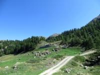 Salita ai laghi di Champlong - tratto che precede la ripida salita nei pressi dell'Alpe Charey