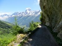 Ultimo tratto di salita per Kummenalp, vista sul Bietschhorn