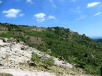 Panorama sull'ambiente circostante nel corso della discesa