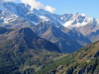 Vista sul Furggupass dal Passo del Monscera