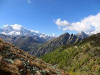 Panorama dal Passo del Monscera sulle vette del Sempione