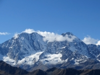 Fletschhorn (3.982 mt), Lagginhorn (4.010 mt) visti dal Passo del Monscera