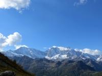 Panorama dal Passo del Monscera -  vista su Weissmies (4.017 mt), Fletschhorn (3.982 mt), Lagginhorn (4.010 mt)