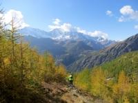 Lungo il sentiero che scende nella Zwischenbergental - colori autunnali