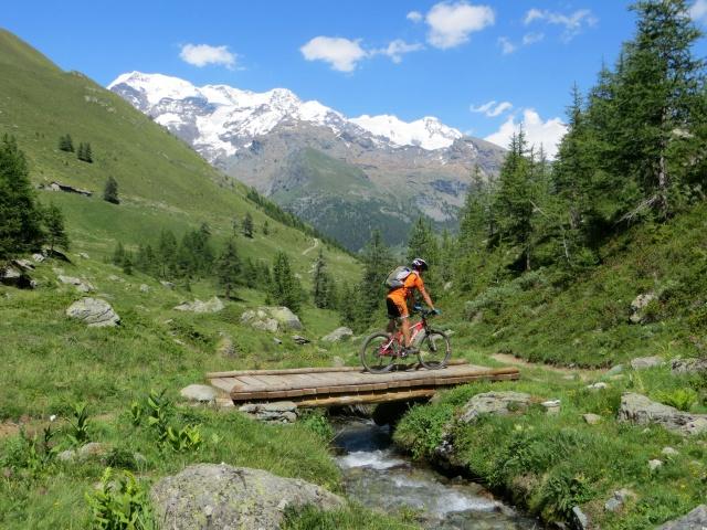 Percorrendo il sentiero che scende dal Rifugio Grand Tournalin - Alpe di Nana Inferiore