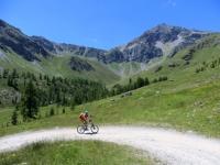 Salendo al Rifugio Grand Tournalin, attorno i pascoli dell'Alpe di Nana Superiore