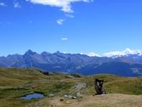 Panorama sulla conca di Pila dal rifugio Mont Fallère