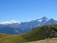 Panorama sulla Grivola dal rifugio Mont Fallère