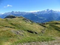 La Becca France in primo piano dal rifugio Mont Fallère