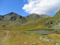 Il Lago delle rane sottostante al rifugio Mont Fallère