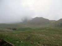 Panorama dal Rifugio Parafulmine - le nuvole basse nascondono i circostanti rilievi