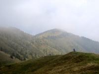 Lungo la cresta che segue il Rifugio Parafulmine
