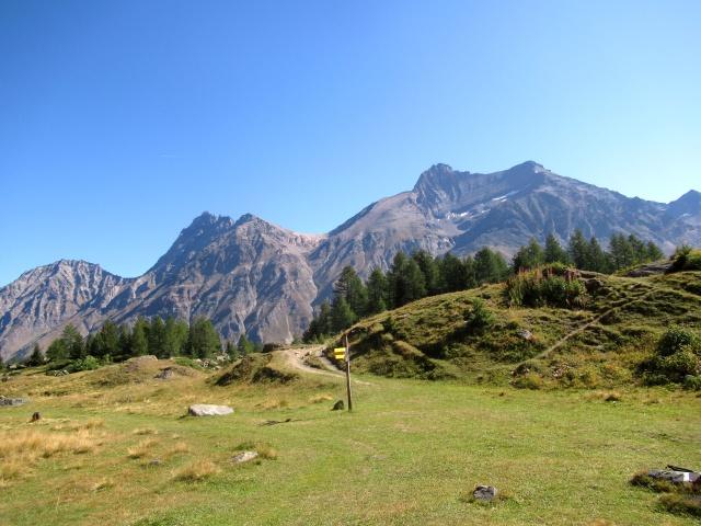 Vista dai Piani di Orvieille (da sx a dx) - Grand Nomenon (3.488), Grivola (3.969), Punta Bianca della Grivola (3.793) e Punta del Tuf (3.395)