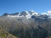 Il Gran Paradiso (4.061) e la Becca di Montandayné (3.838) dal Colle Manteau
