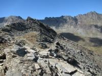 La parte finale del sentiero per il Colle Manteau