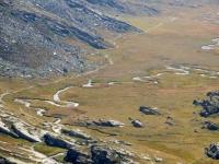 Piani del Nivolet - Il sinuoso corso della Dora del Nivolet
