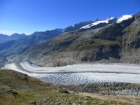 Tratto terminale del ghiacciaio dell'Aletsch