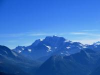 Moosfluh, vista sui classici del Sempione -  Weissmies (4.023 m) e Fletschhorn (3.996 m)