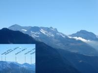 Le montagne del Passo del Sempione da Hohfluh