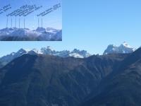 I rilievi che separano il Vallese dall'Alpe Veglia e dall'Alpe Devero - Panorama da Hohfluh