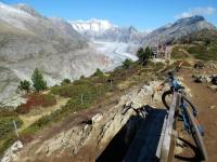 Hohfluh (2.225mt) -  Magnifico panorama sul Ghiacciaio dell'Aletsch