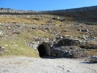 L'uscita del tunnel sotto l'Eggishorn nei pressi del Märjelen-Stausee
