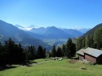 Gstalji - Grandioso panorama salendo a Riederalp