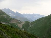 Furkapass dal sentiero per Bidmer sotto il Taellistock