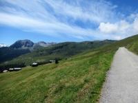 Salita in direzione della Val da Larisch - Panorama