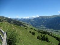 Panorama sulla Val Schons da Dumagns